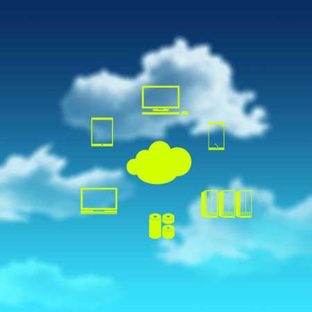 mobile cloud: a Cloud Computing diagram as concept