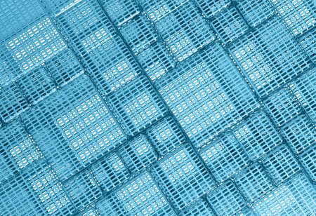 Blue Steel mesh metal plate background or texture photo