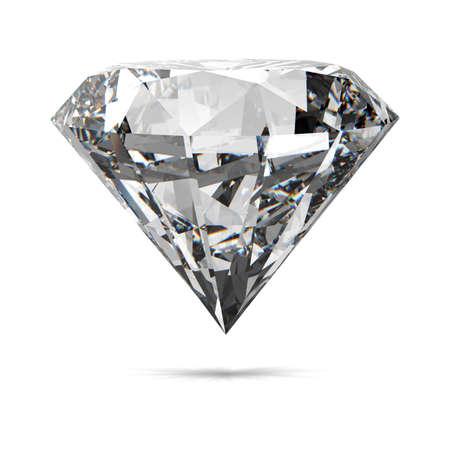 queen diamonds: Diamanti isolato su bianco modello 3d