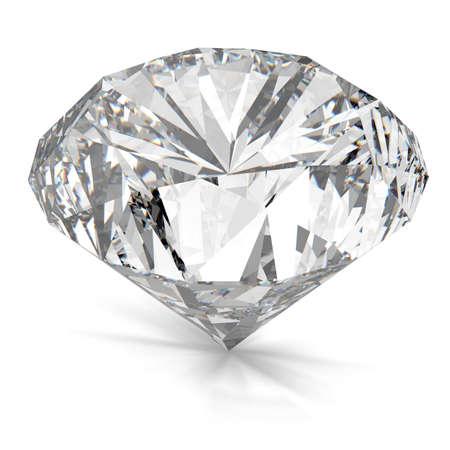 queen of diamonds: Diamonds isolated on white 3d model