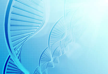 life science: a dna in medical colour background
