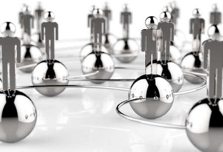Rede social humano inoxid�vel 3d como conceito
