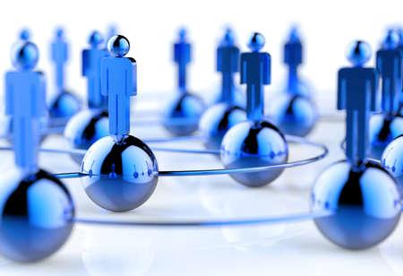 conexiones: 3d inoxidable humana red social como concepto Foto de archivo