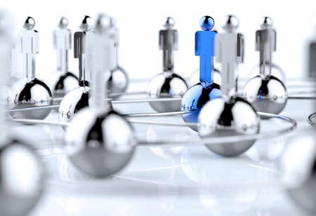 networking people: 3d inoxidable humana red social como concepto Foto de archivo