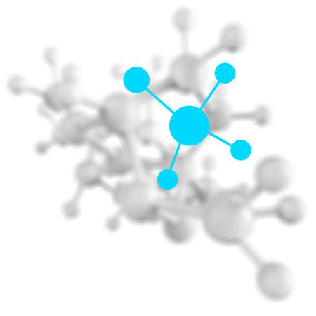 Molecule graphic 3d on white background photo