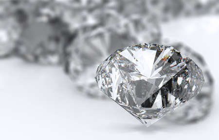 Diamonds 3d isolated on white surface Stock Photo