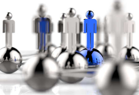 3d stainless human social network and leadership as concept Stock Photo - 18989116