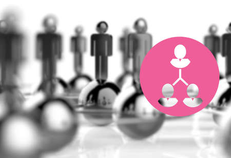 3d stainless human social network and leadership as concept Stock Photo - 18988711