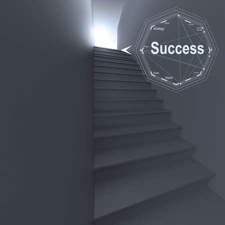 3d stairway to success as business concept photo