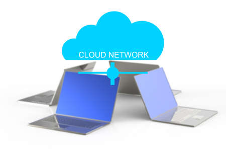 Cloud computing graphic concept  photo