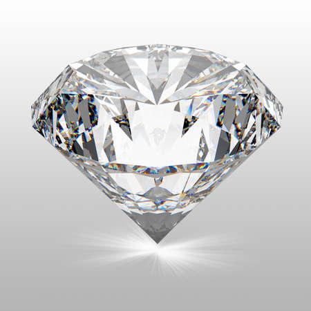 3d model: Diamonds isolated on white 3d model