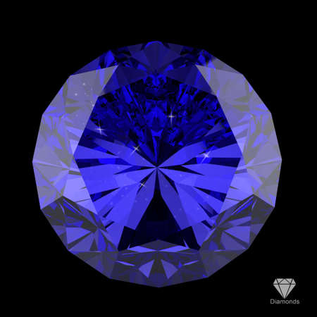 semiprecious: 3d diamond on black surface