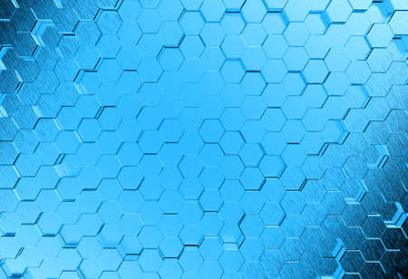 Abstract metal molecules medical background photo