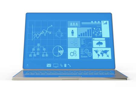 ultrabook: laptop notebook ultrabook with new inteface as concept