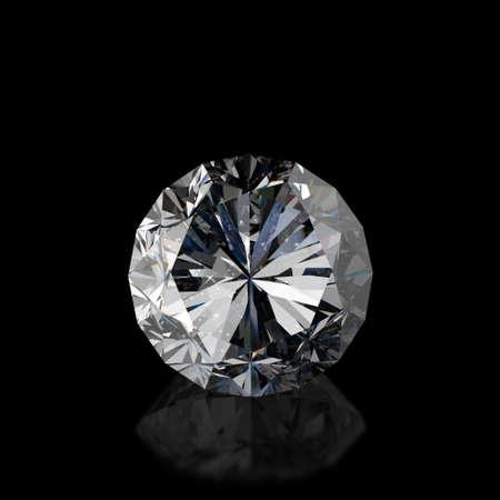 Diamonds isolated on dark 3d model background