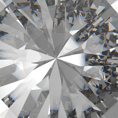 queen blue: Diamonds isolated on dark 3d model background