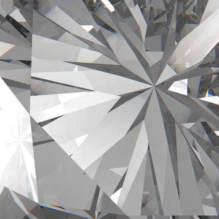 Diamonds isolated on dark 3d model background photo