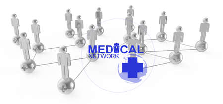 network map: medical network graphic sign as concept