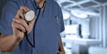 success smart medical doctor working with operating room as concept Stock Photo - 20101088