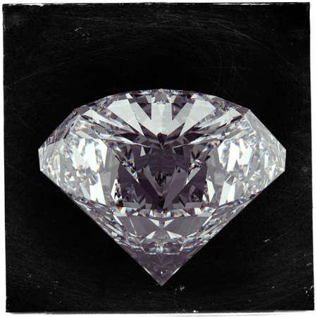 asset: Diamond on black as vintage style concept