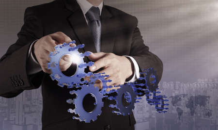 businessman hand pointing to investment concept Stock Photo - 21270990