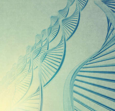 dna in medical colour background as vintage style concept photo