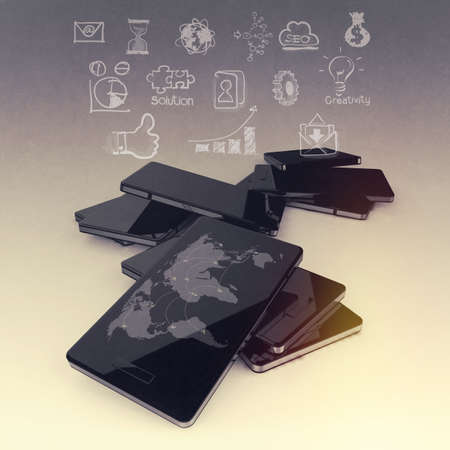 communicatio: mobile phones technology business as social network concept