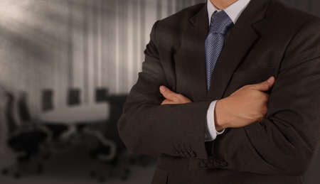 businessman success with his board room background photo
