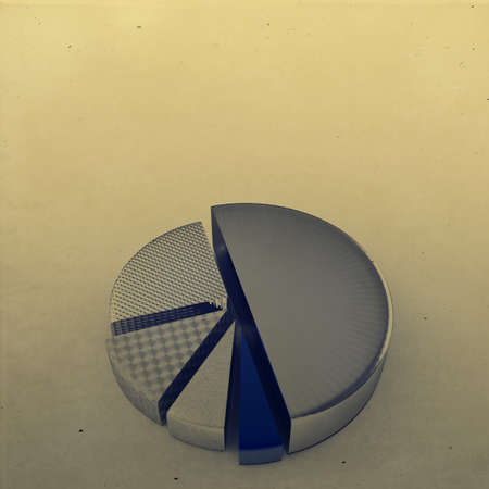 set of different pie chart as vintage style concept photo