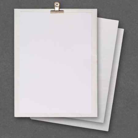 data sheet:  stack of blank paper book on texture background as concept