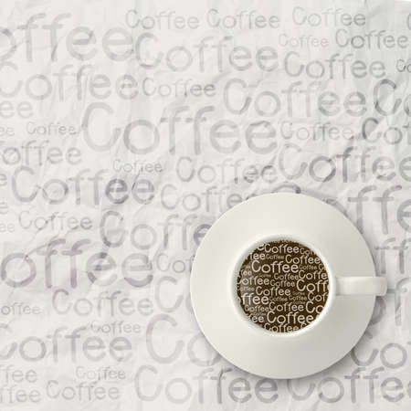 coffee spilling out of a cup 3d as vintage style concept Stock Photo - 22006663