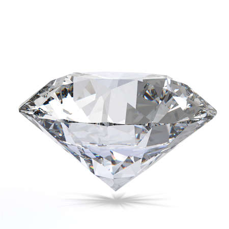 Diamond on white background 3d model