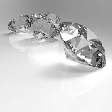 diamond stones: Diamonds 3d in composition as concept