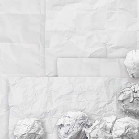 set of white crumpled paper background texture in composition Stock Photo - 22007935