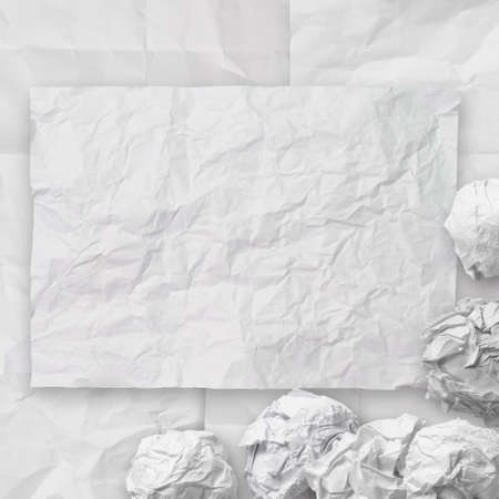 set of white crumpled paper background texture in composition Stock Photo - 22006421