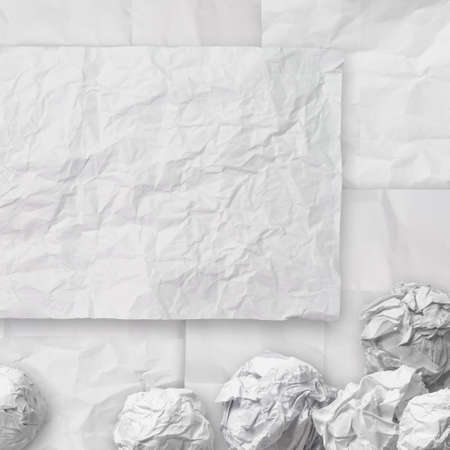 set of white crumpled paper background texture in composition Stock Photo - 22006850