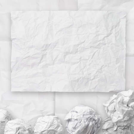 set of white crumpled paper background texture in composition Stock Photo - 22006478