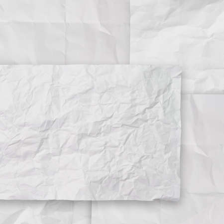 set of white crumpled paper background texture in composition Stock Photo - 22006851