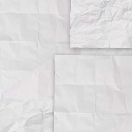 set of white crumpled paper background texture in composition Stock Photo - 22007938
