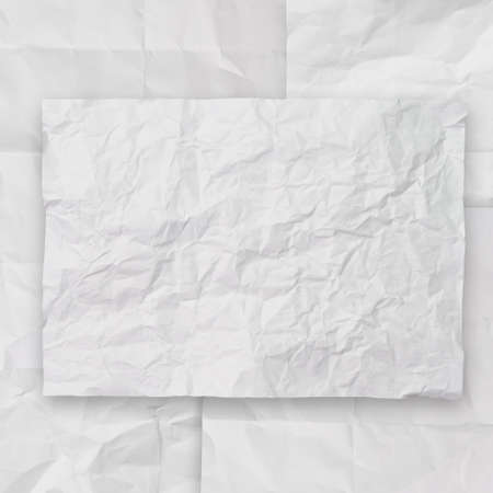 set of white crumpled paper background texture in composition Stock Photo - 22006479