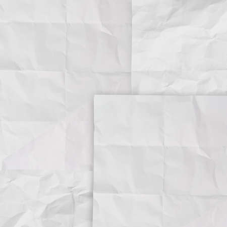 set of white crumpled paper background texture in composition Stock Photo - 22006853
