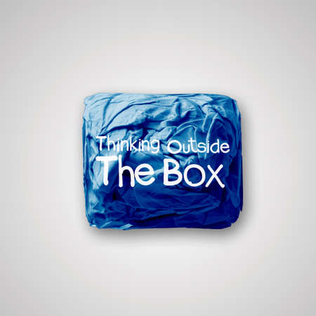 think outside the box as concept photo