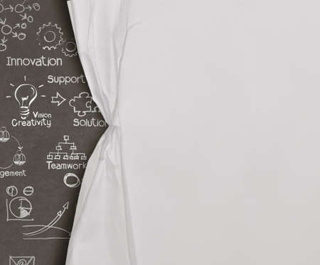company innovation:  open wrinkled paper show business strategy as concept Stock Photo