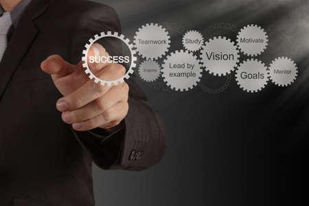 mision: engranajes carta comercializaci�n �xito como concepto Foto de archivo