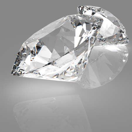 Diamonds composition 3d model concept