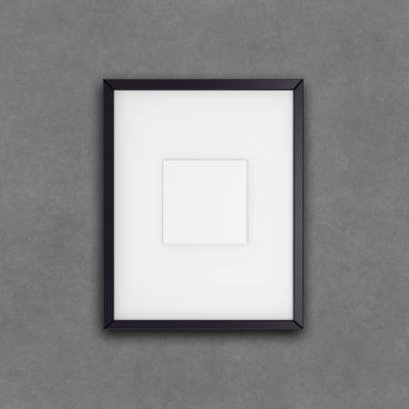 blank modern 3d frame on texture background as concept photo