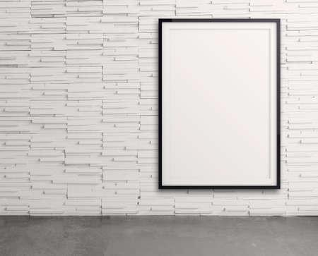 Vide cadre de style moderne sur le mur de la composition en tant que concept Banque d'images - 22393347