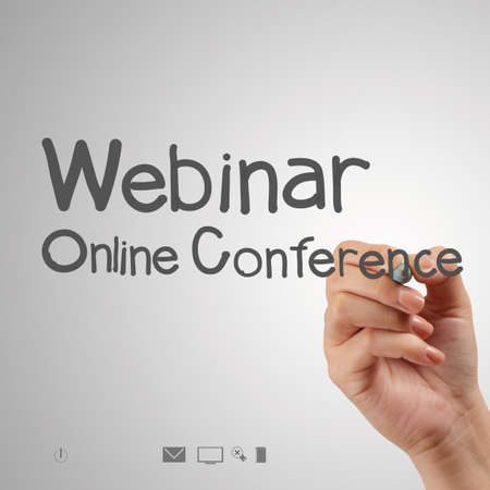 hand writing Webinar as concept Stock Photo - 22393394