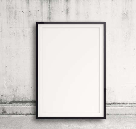 advertising space: empty modern style frame on composition wall as concept Stock Photo
