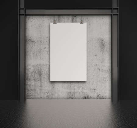 blank paper card 3d on composition wall as concept Stock Photo - 22393560